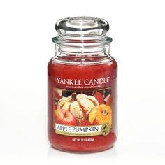 """Apple Pumpkin™ Large Jar Candle: Our candles are made from premium grade paraffin and infused with the finest quality ingredients that deliver """"true-to-life"""" scents."""