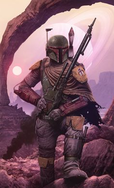 "pixalry: "" Boba Fett Fan Art - Created by Tony Warne """