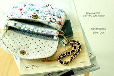 zakka, zakka style, Japanese zakka style, Hello Kitty clutch purse  DIY digital PDF Sewing Pattern - Bag / purse Sewing Pattern, Clutch Sewing Pattern, Handbag Sewing Pattern, pattern pile, pile of pattern, free tutorial