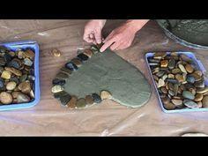 Cement Flower Pots, Cement Planters, Concrete Crafts, Concrete Projects, Home Crafts, Diy And Crafts, Cement Art, Heart Diy, Stone Heart