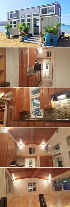 The Ko'olau is a 24′ tiny house on wheels built in Honolulu, Hawaii by Tiny Pacific Homes.  ~ Great pin! For Oahu architectural design visit http://ownerbuiltdesign.com