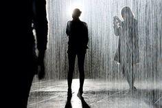 Rain room at the MoMA