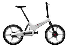 Gocycle // g2r // folding electric bicycle with knight rider styled battery tab
