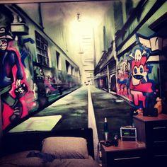 Children Teen Kids Bedroom Graffiti Mural