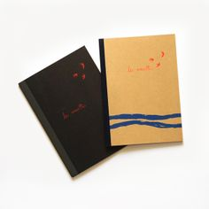 Screen-print on Muji notebooks
