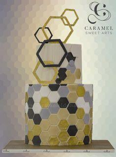 Honeycomb inspired Cake by Caramel Doha
