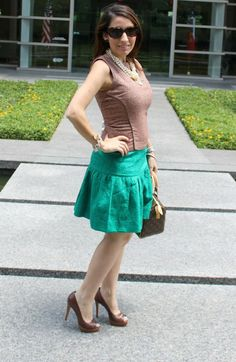 Kenneth Cole, J.Crew skirt|Pretty In Her Pearls