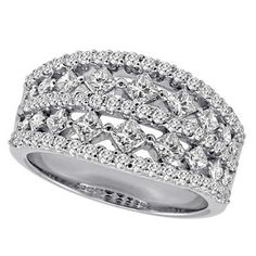 14k White Gold Diamond Band Ring – JewelryWeb   Your #1 Source for Jewelry and Accessories