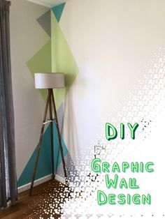 Easy Graphic Wall Design DIY With Paint Tape