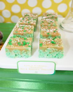 Wants and Wishes: Party planning: Carmel Rice Krispy Treats Recipe