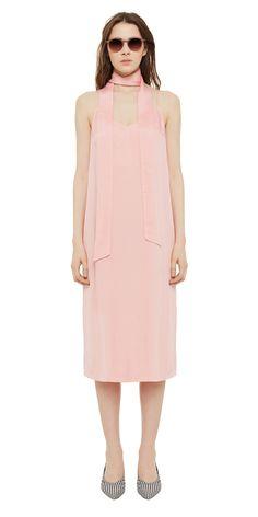Платье-комбинация с шарфом