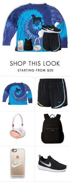 """Untitled #4449"" by laurenatria11 ❤ liked on Polyvore featuring NIKE, Frends, Vera Bradley, Casetify and Sole Society"