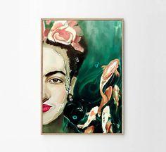 Frida Kahlo Abstract Painting Wall Art Frida Kahlo Poster