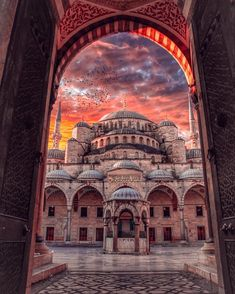 Sultan Ahmet Mosque (Blue Mosque) designed by Sedefkâr Mehmed Ağa. – All Pictures Sultan Ahmed Mosque, Blue Mosque Istanbul, Landscape Photography, Travel Photography, Photography Photos, Mosque Architecture, Turkey Photos, Istanbul Travel, Beautiful Mosques