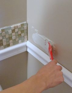 bathroom chair molding. how to install a tile backsplash pt. 1 bathroom chair molding