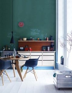 I want a green kitchen