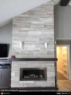 Stacked Stone Fireplace white and gray stacked stone fireplace | stacked stone white-grey
