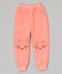 Pink Fox Knees Sweatpants - Infant, Toddler & Girls