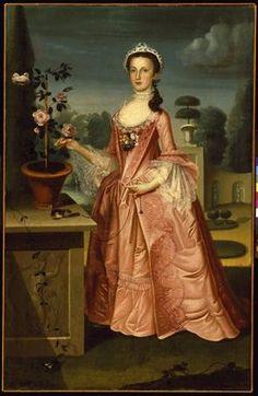 William Williams (American, 1727-1791, active in America 1746-1776). Deborah Hall, 1766. Oil on canvas, 71 3/8 x 46 3/8 in. (181.3 x 117.8 cm). Brooklyn Museum, Dick S. Ramsay Fund, 42.45