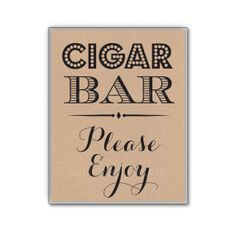 Rustic Wedding Cigar Bar Sign Birthday Party by PurplePeonyCouture, $8.00