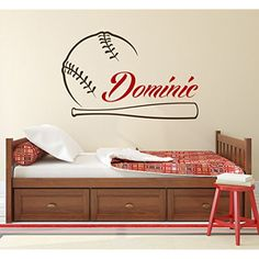 Name Wall Decal Baseball Boy Personalized Boys Name Decor Vinyl Sticker Decal Baseball Wall Art Kids Teens Boys Sports Decor Wall Decal x13 * You can get additional details at the image link. (This is an affiliate link) #KidsFurnitureDcorStorage