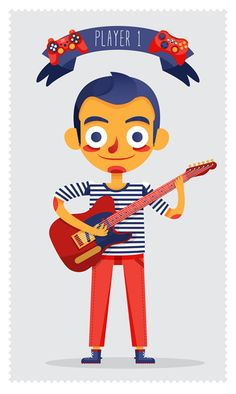 Player1 & Player2 by Ana Rois, via Behance