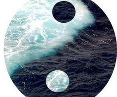 #blue #yinyang #ocean #nature
