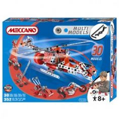 Buy Meccano 30 Models Set for you kids. This product includes a 6V motor to bring your model creations to life, 352 pieces and full instructions. Kids can enjoy a lot and they are having fun with them.