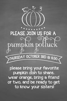 relief society :: pumpkin party.