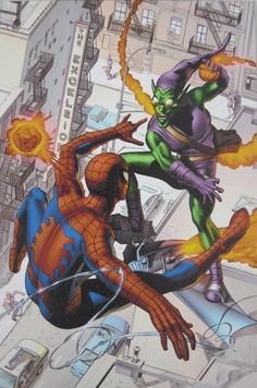 Dark Reign: The Goblin Legacy One-Shot - Limited Edition Giclee on Stretched Canvas by Mike Mayhew and Marvel Comics Spectacular Spider Man, Comic Book Heroes, Comic Books, Classic Comics, Character Drawing, Wrapped Canvas, Comic Art, Marvel Comics, Spiderman