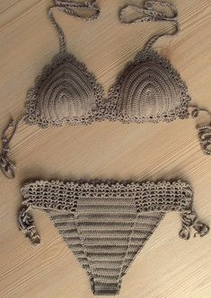Light Brown Crochet Sexy Bikini, Women Swimwear, Beach Wear, 2015 Summer Trends !!! FORMALHOUSE