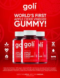 Apple Cider Vinegar Gummies by Goli Nutrition! Gut Health, Health And Wellness, Sugar Detox Plan, Vitamins For Women, Health Vitamins, Anti Inflammatory Diet, Natural Foods, Carbohydrate Diet, Patent Pending