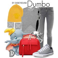 Dumbo by leslieakay on Polyvore featuring A.L.C., J Brand, Converse, Kenneth Jay Lane, Ann Demeulemeester and Versace