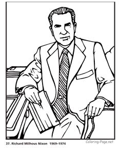 richard nixon president coloring pages