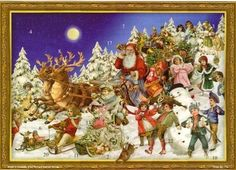 Victorian Sleighing Santa German Advent Calendar >>> This is an Amazon Affiliate link. Find out more about the great product at the image link.