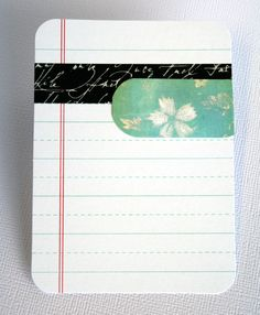 Journal card with Washi tape. Black Script Washi Tape: http://www.washitapes.nl/washi-tape/p-1a/006--black-script-washi-tape.html