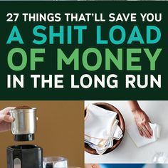 27 Gloriously Simple Things That'll Save You So Much Money 27 Things That'll Save You A Shitload Of Money In The Long Run Ways To Save Money, Money Tips, Money Saving Tips, Money Savers, Budgeting Finances, Budgeting Tips, Show Me The Money, Success, Financial Tips