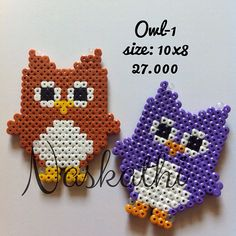 Owls hama beads by naskathi