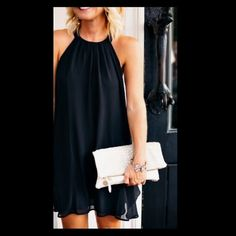 Black shift dress Never been  worn but I took the tags off. Don't like it as much as I originally thought. Ask anything! one clothing Dresses