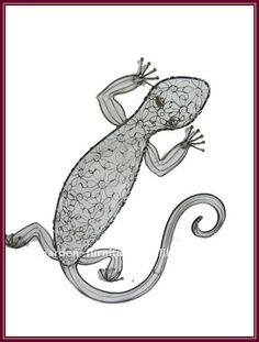 Adornos de metal jardín lagarto hierro forjado tapiz animales artesanías de venta en todo el mundo