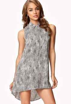 Forever 21 - Spotted Print High-Low Dress.