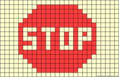 Stop sign perler bead pattern