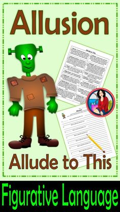 Figurative Language Center Activity featuring Allusion. Use for small groups or independent literacy station work during guided reading. Would also be good for whole class introduction to Allusions. Read a short description and write a sentence or two all