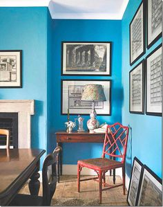 Ben Pentreaths englisches Landhaus – The Glam Pad ben pentreath english – Home … - Esszimmer Farrow Ball, Farrow And Ball Paint, Dix Blue, Benjamin Moore Blue, English Antique Furniture, Oval Room Blue, Blue Paint Colors, Wall Colours, Georgian Homes