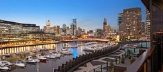 Docklands Melbourne waterfront sunset view apartment city skyline view.  marvellephotography.com.au