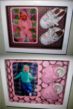 baby shoes shadow box