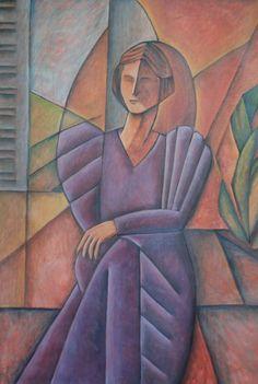 Juana de América (Homenaje a Juana de Ibarbourou) 70x100 cm-Oleo sobre tela-2013-Maria Teresa Barrios