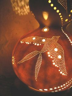 Natural and Artistic Gourd Lamp