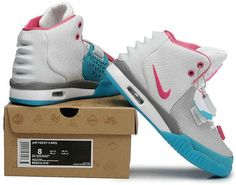 72438d3bd0e Nike Air Yeezy 2 Grey White Blue Pink Adidas Shoes For Sale