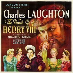 US six-sheet poster for The Private Life of Henry VIII (Alexander Korda, UK, 1933).